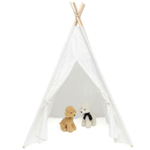 Cotton Indian Tent Teepee Play Playhouse Indoor Outdoor