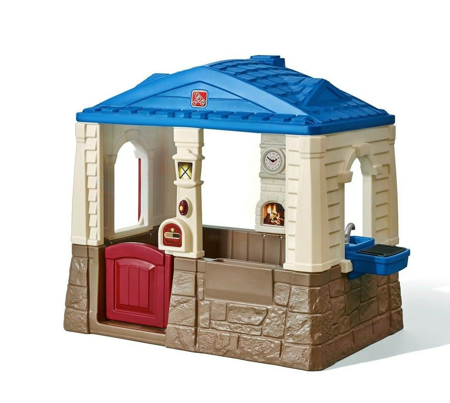 Deluxe Playhouse Outdoor Play House Plastic