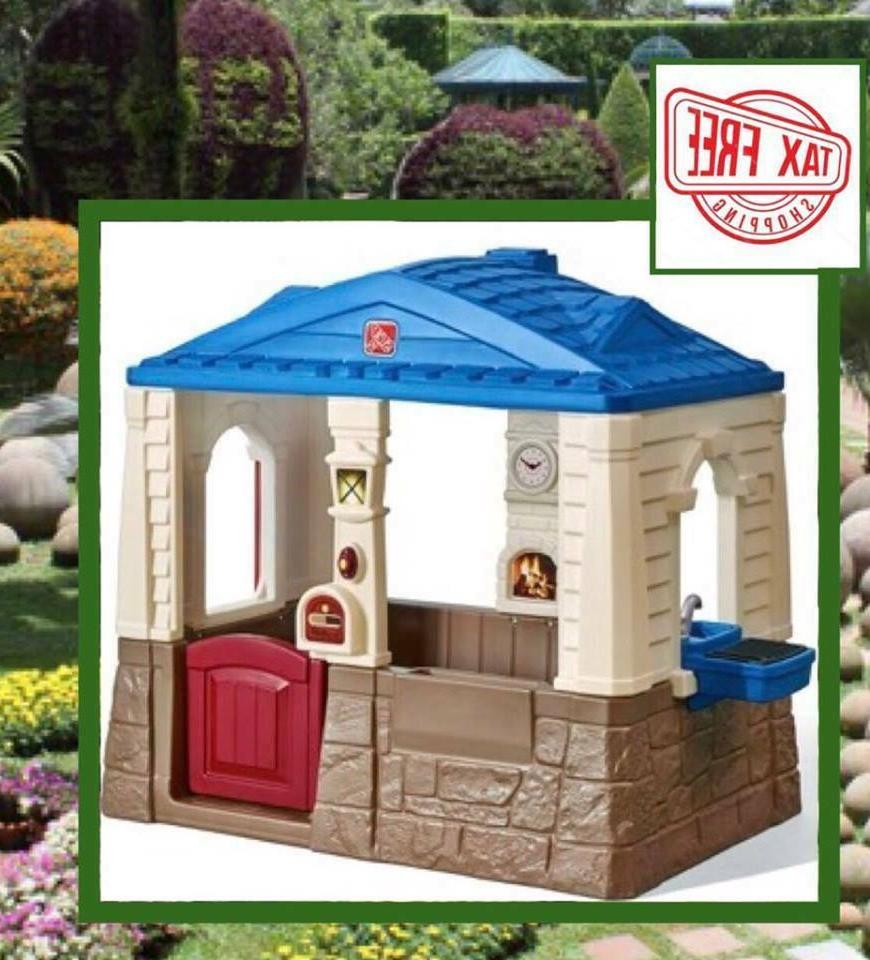 Deluxe Cottage Playhouse Outdoor Play House Plastic Free
