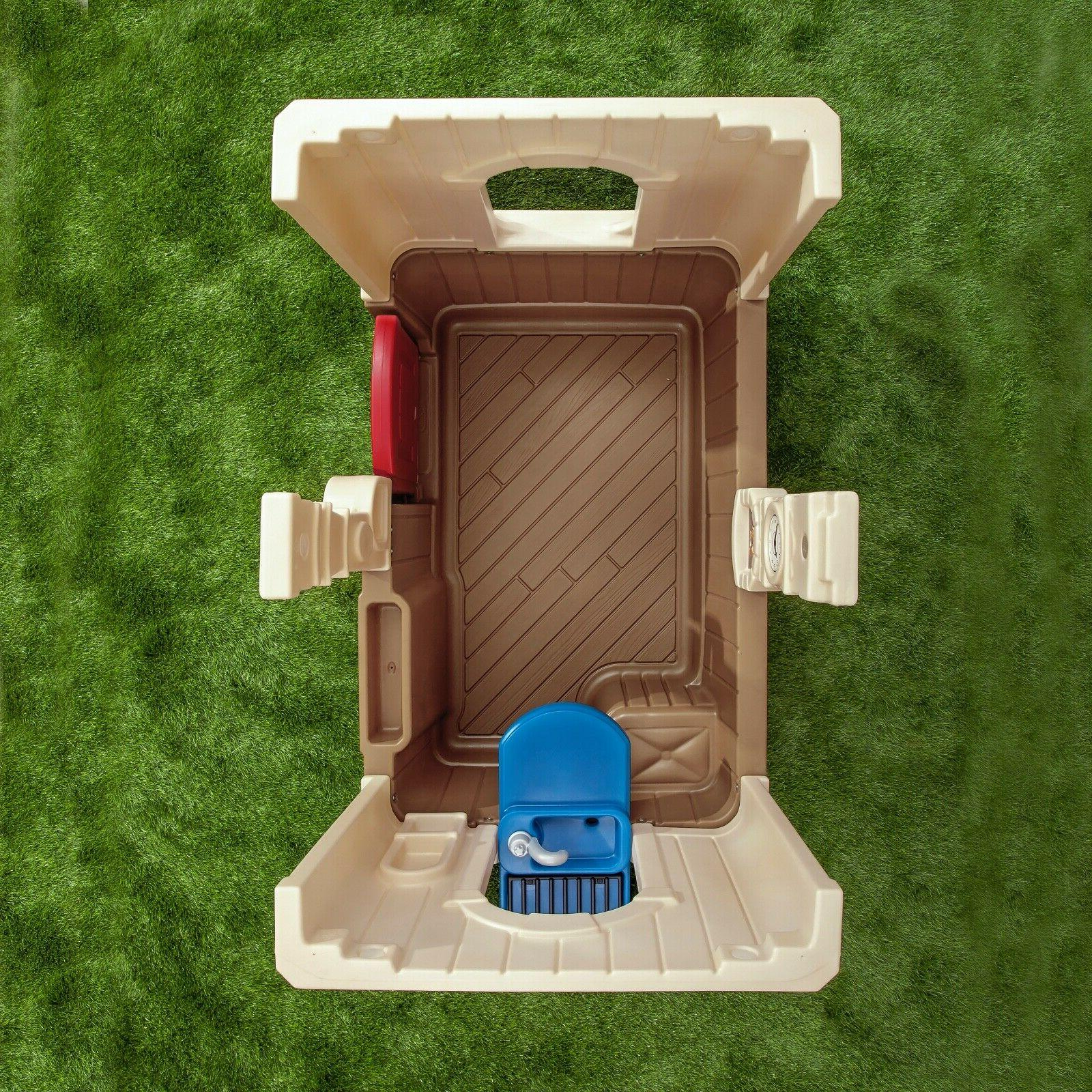 Deluxe Cottage Playhouse Outdoor Plastic