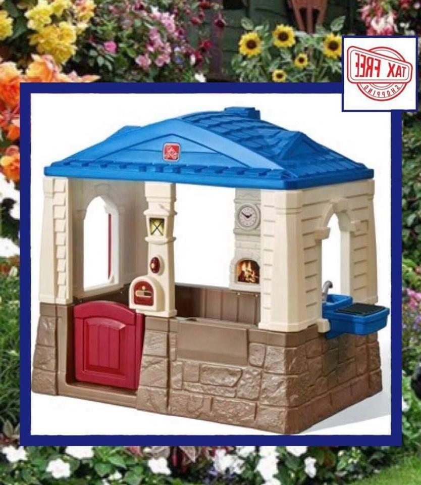 deluxe cottage playhouse patio outdoor play house