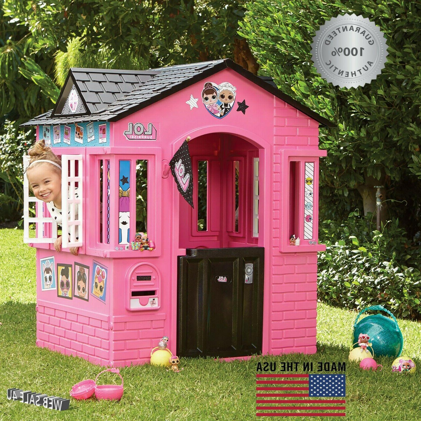 Deluxe Pink Playhouse Outdoor Indoor Large Girls House Cotta