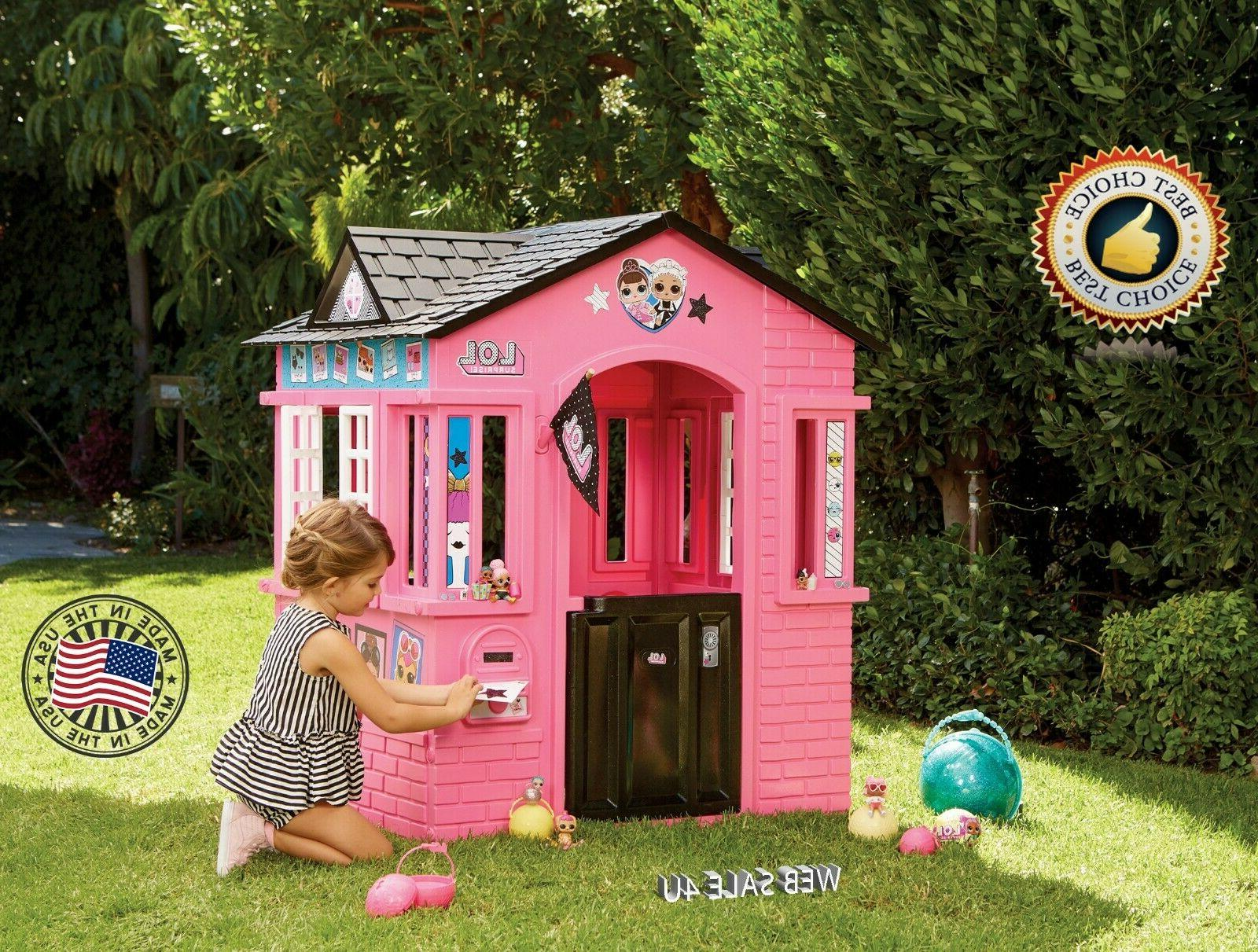 Deluxe Pink Playhouse Indoor Large Cottage Glam