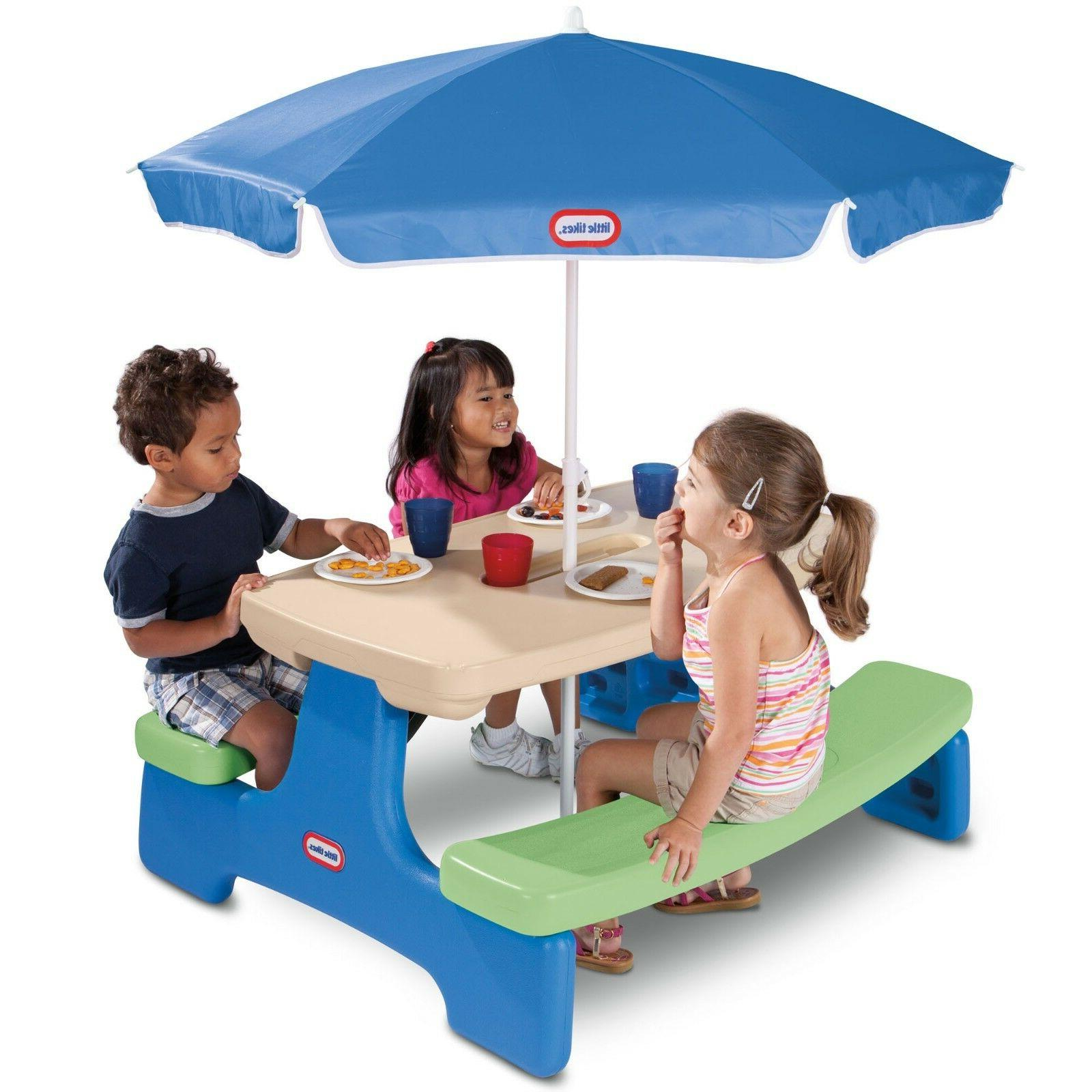 Little Tikes Store Picnic Table with & Holiday Gift