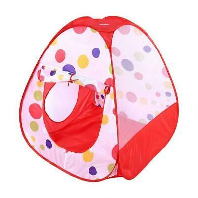 3 IN 1 Toddlers Tunnel Up Play Tent Playhouse Indoor Toy