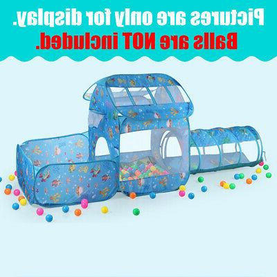 Folding Kids Tent Tunnel Outdoor Play