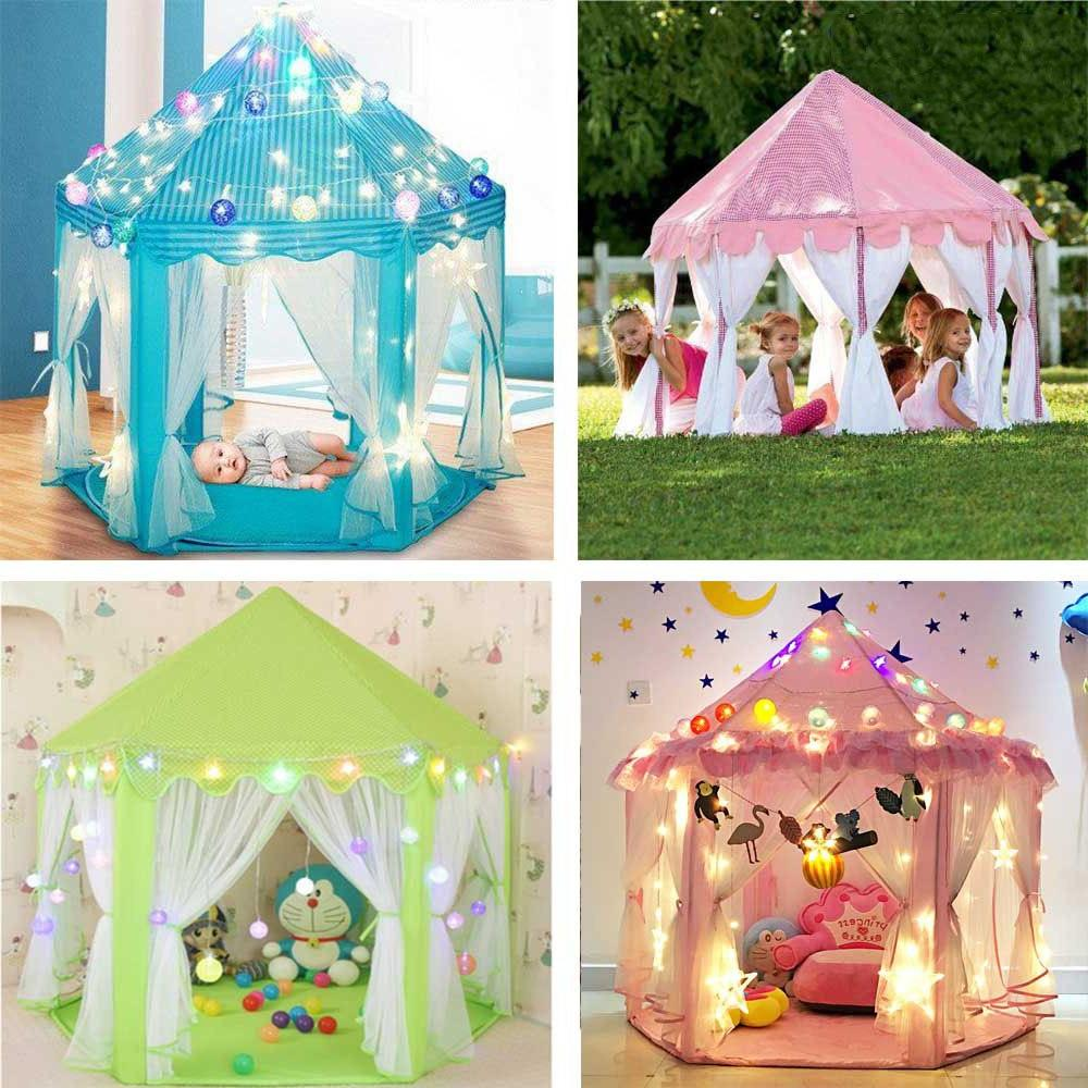 Girl Tents Garden Folding Play Tent Lodge Kids Ball Pool <font><b>Indoor</b></font>