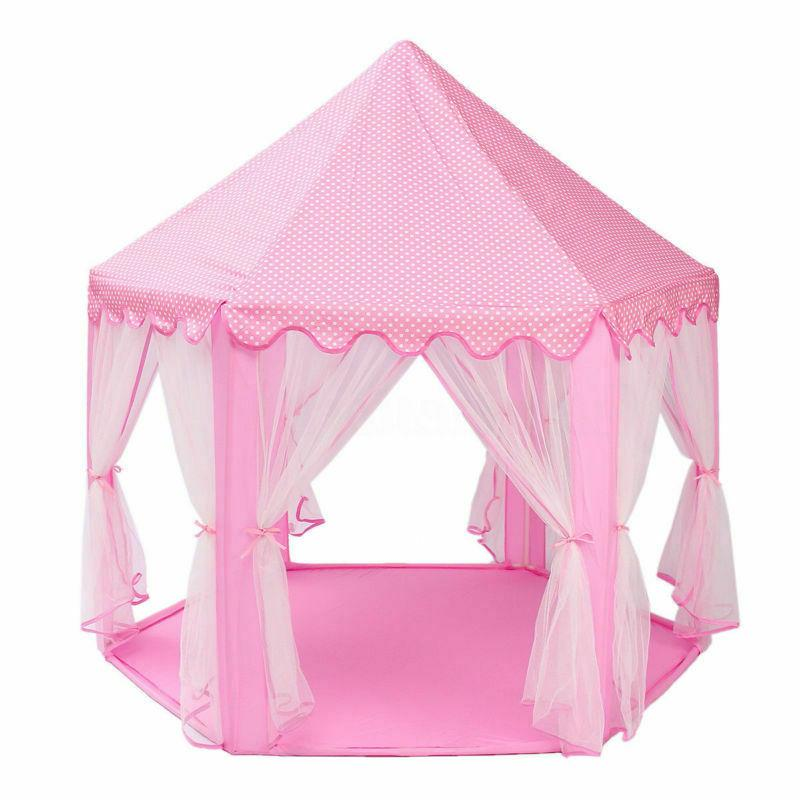 Girls Pink Cute Playhouse Play Tent Outdoor