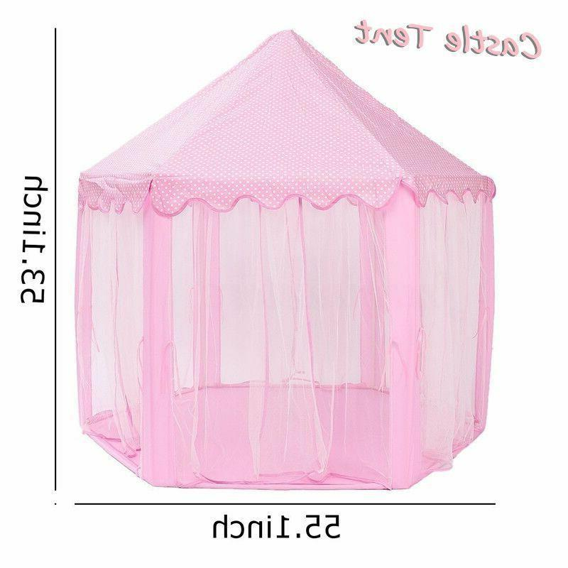 Girls Pink Play Tent Outdoor Toys