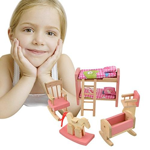 Goodfeng Furniture Dollhouse Miniature for Kids Play Puzzle Children's
