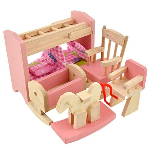 Goodfeng Doll Furniture Dollhouse Miniature Kids Play House Puzzle