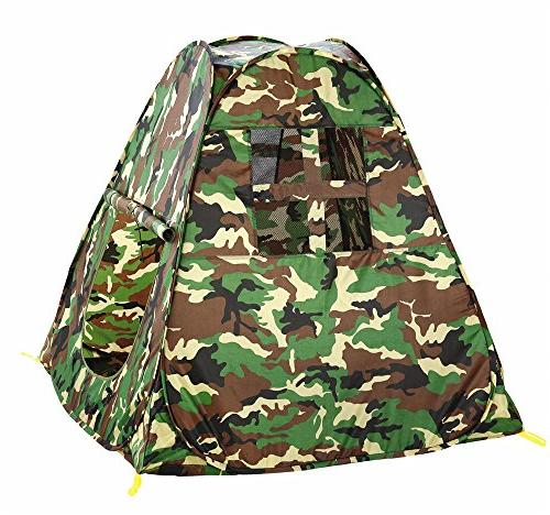 green camouflage triangle canopy pop