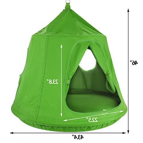 Mophorn 45 54 H Hanging Tent Hanging Tree&Ceiling Hammock Tent Green Outdoor Tents Playhouses