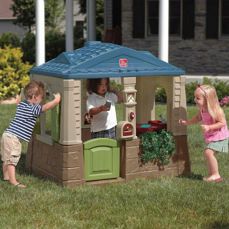 Step2 Happy Home Cottage & Kids Playhouse, Blue