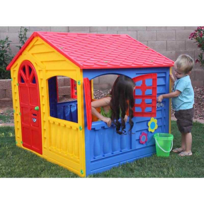 PalPlay Playhouse in Yellow cottage INDOOR OUTDOOR toy PLAY