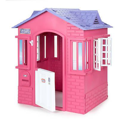 Princess Cottage Playhouse Pink Little Kids Girls Play Prete