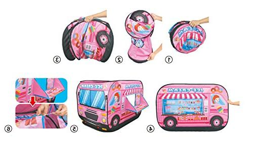 Ice Cream Pink Tent Playhouse for Kids
