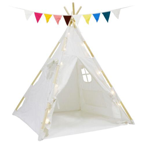 indian play tent teepee kids playhouse sleeping