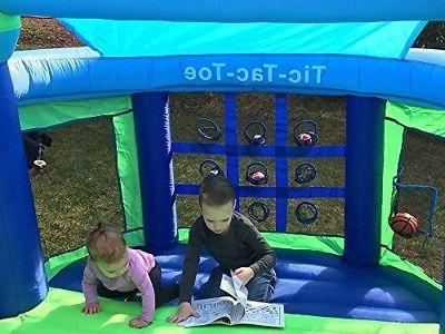 Inflatable Castle Gym Blow Blue Green