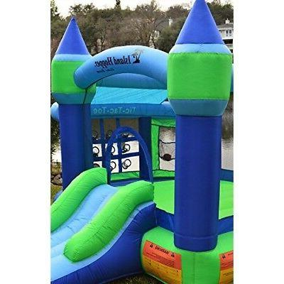 Inflatable Gym House Bouncy Blow Up Set Blue