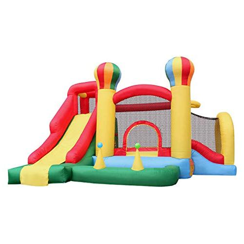 BestParty Slide Climbing Playhouse Bouncy House Castle House Blower