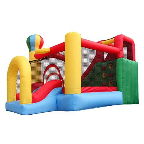 BestParty Inflatable House Slide Jumper Climbing Playhouse Bouncy Castle House Blower