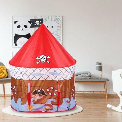 Kids House Playhouse Indoor Outdoor Foldable Gift