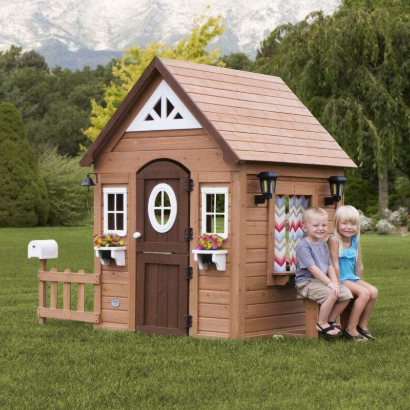 Kids Wooden Playhouse Summer Cottage House