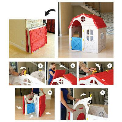 Kids Cottage Playhouse Plastic Play for Outdoor