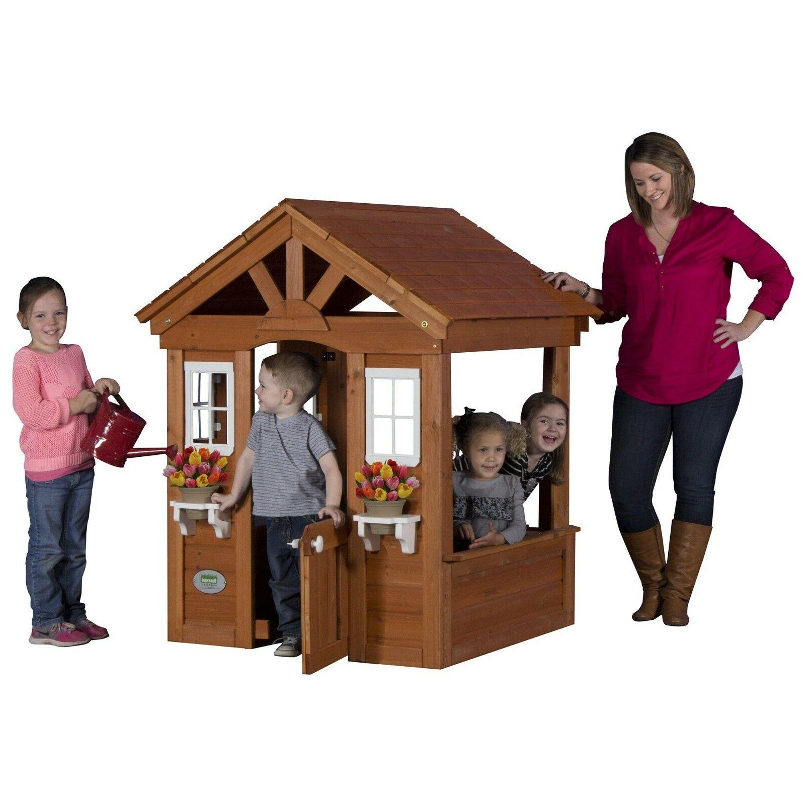 Wooden Toy Backyard Paintable