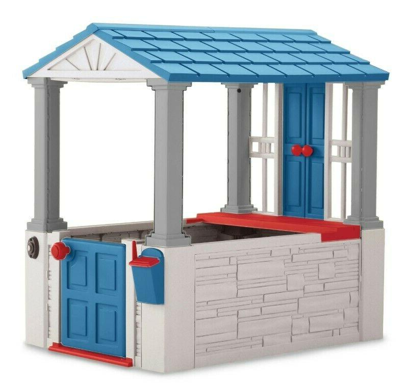 Kids Playhouse Outdoor Toddler Cottage Children Play