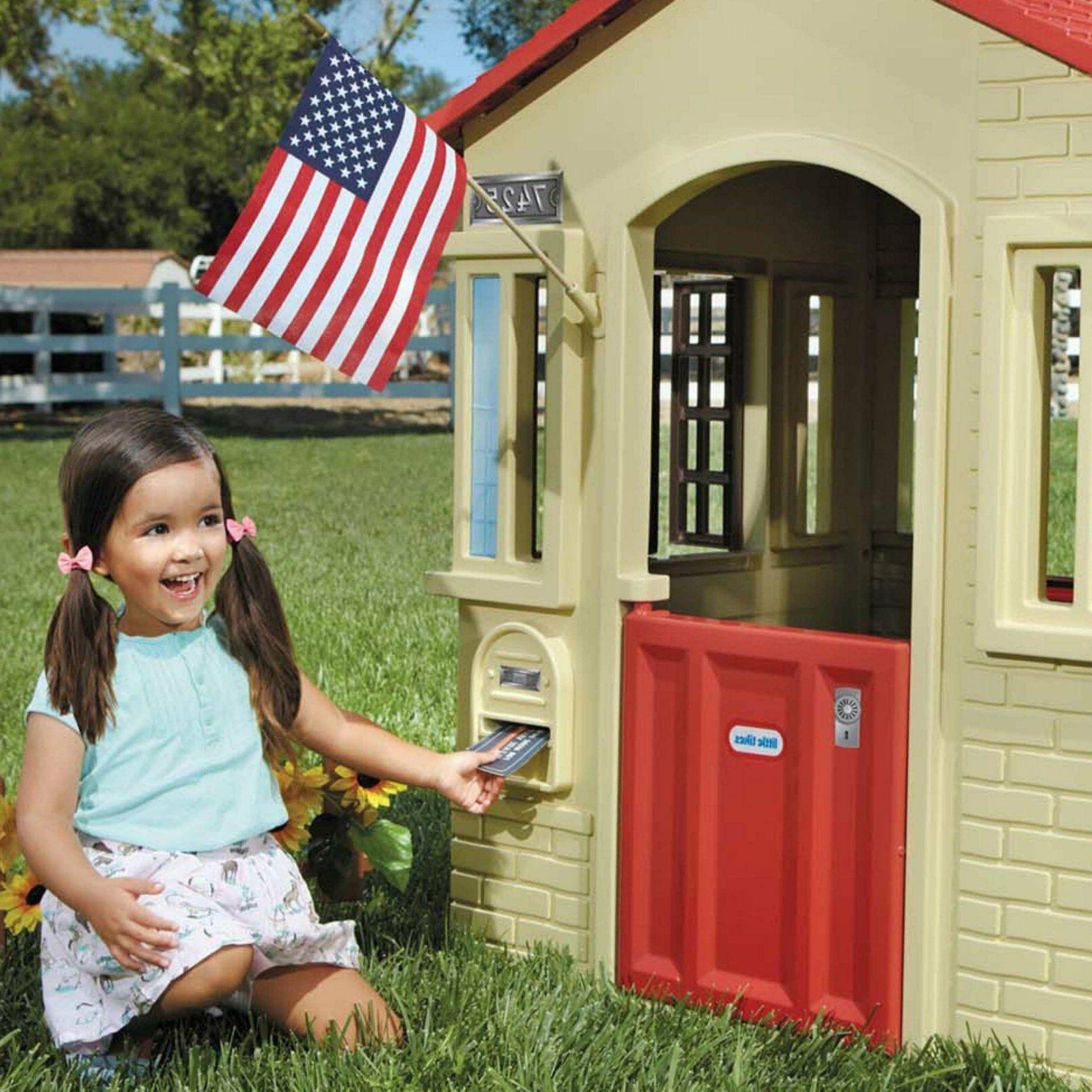 Playhouse Portable Outdoor Cottage Children Indoor Sturdy Ea