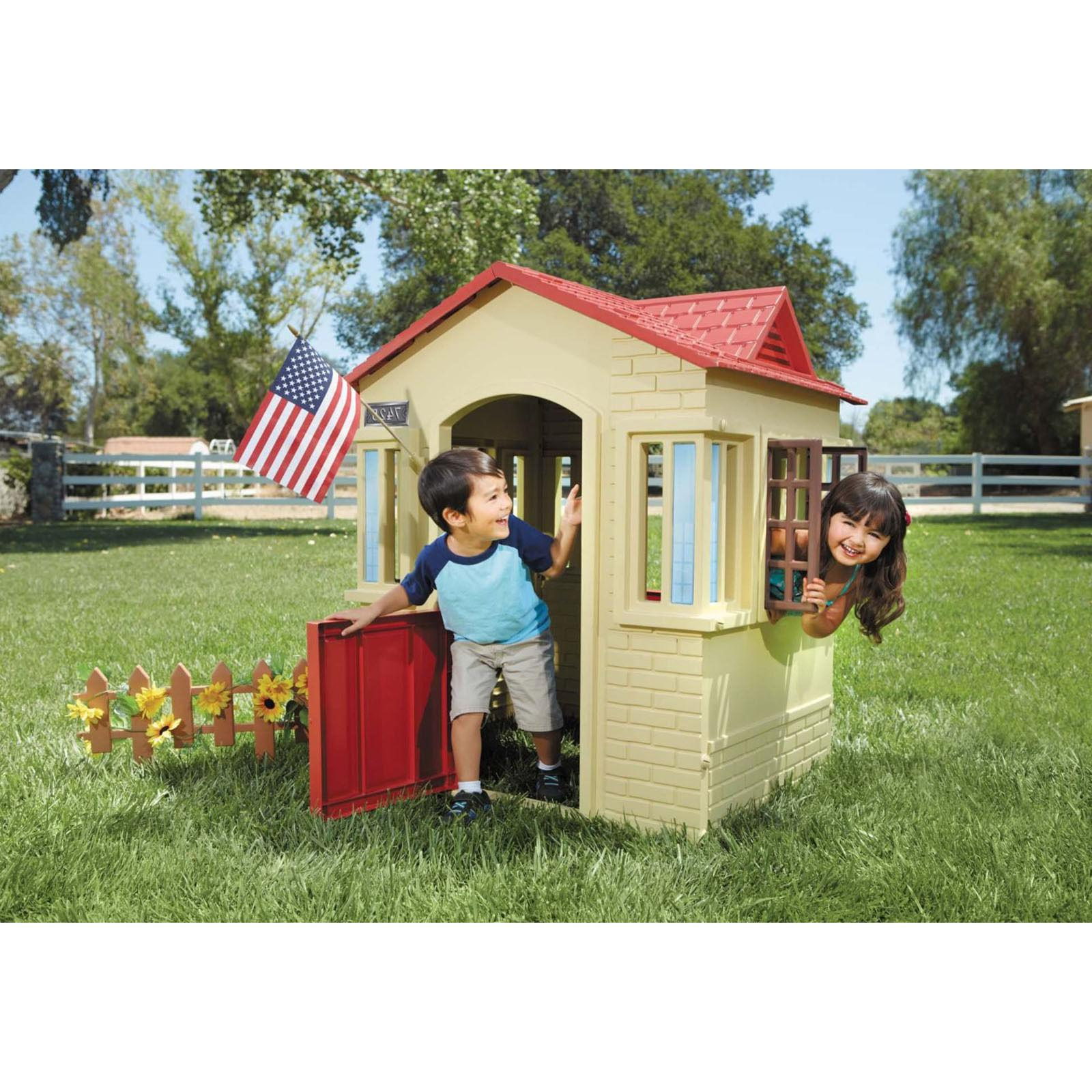 Kids Playhouse Little Cottage Children Playground