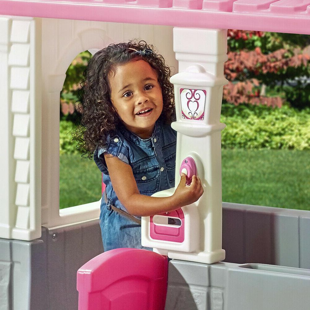 Kids Playhouse Outdoor Child Toddler House Toy Girls Pink