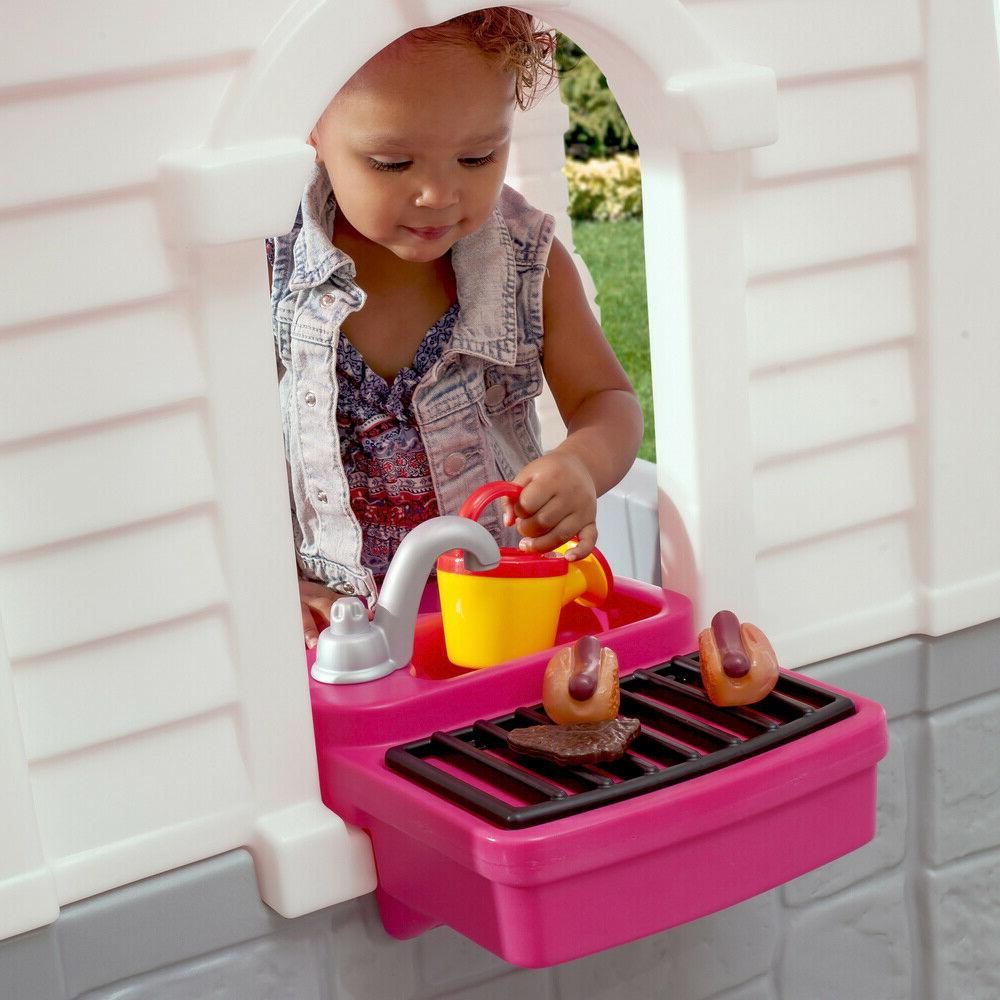 Kids Plastic Child Toddler House Toy Girls Pink