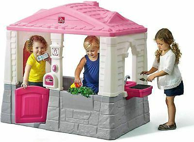Kids Playhouse Outdoor Plastic Child Toddler Cottage Play Ho