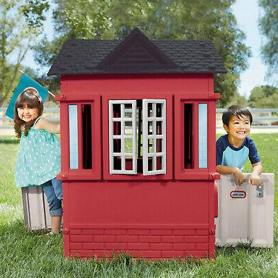 Kids Playhouse Outdoor Play Red Children