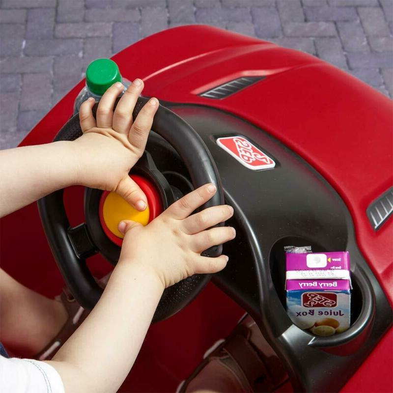 Kids Push Pull Pink Ride On Toy Wheels Red