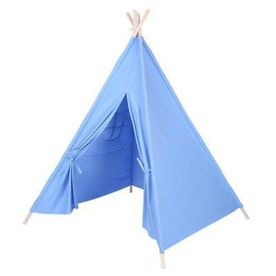 kids teepee indian play tent wooden bar