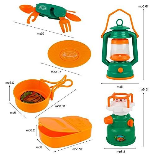 Little Play with Camping Gear Toy for