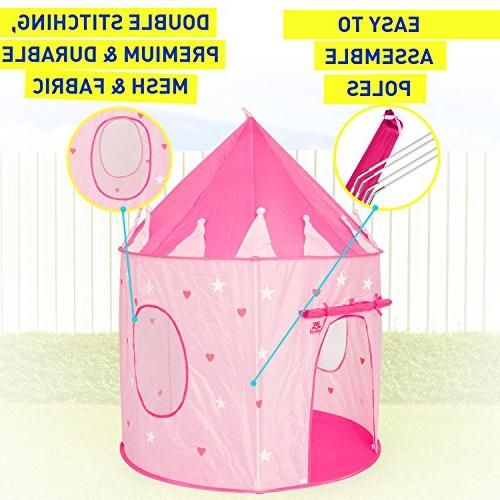 Kiddey Tent Glow in the – Girls, With Case for Easy Travel Storage.