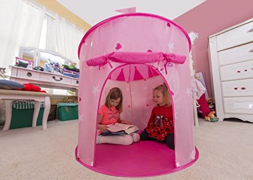 Kiddey Castle Tent - Glow in Girls, With Carry Case for Storage. Great Gift Idea