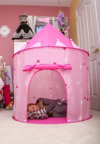 Kiddey Castle Play Tent in – Girls, With Case for Storage. Gift