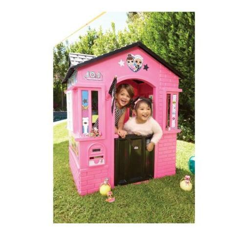 LOL Girls Playhouse Outdoor Cottage or Kids Pink LOL
