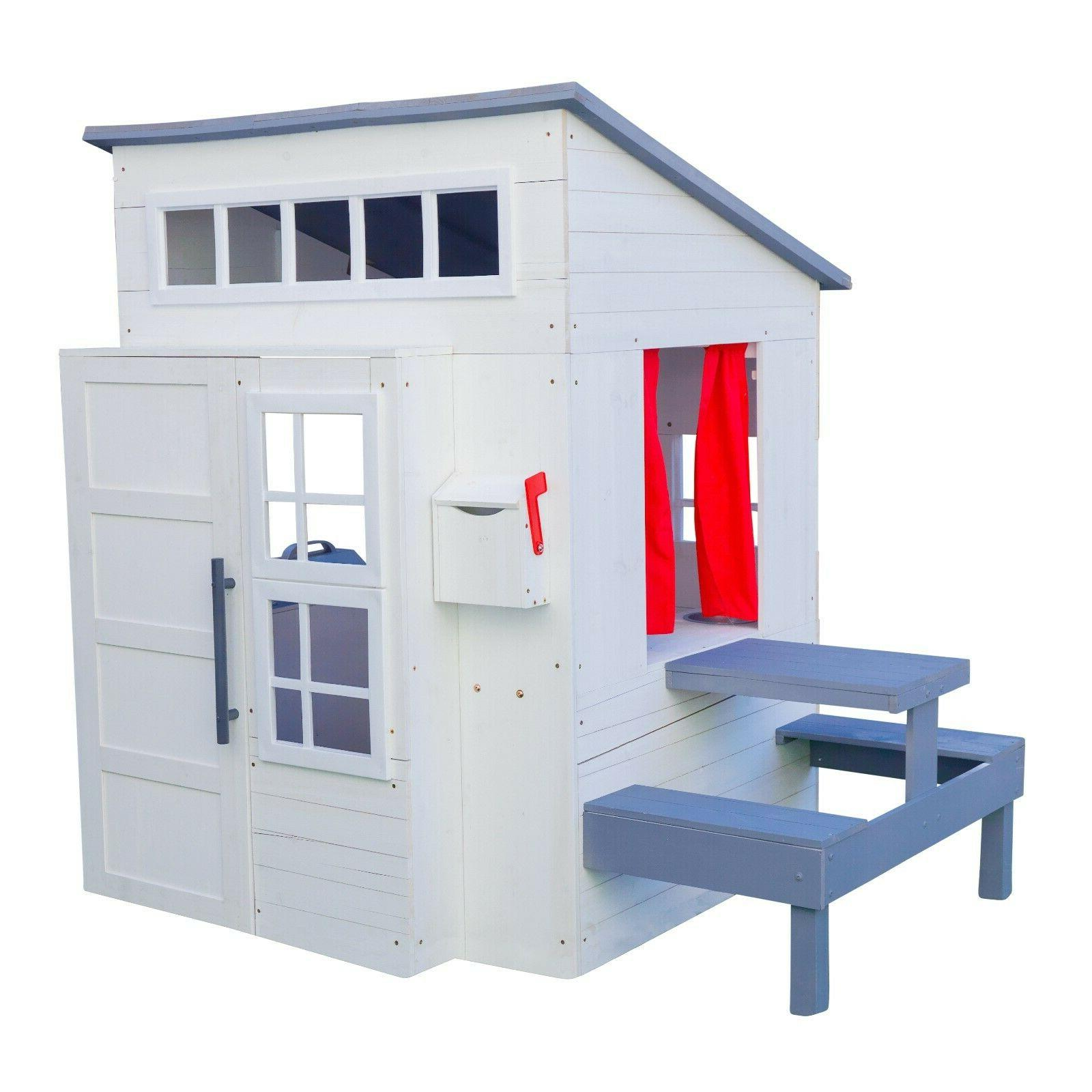 modern outdoor playhouse white by