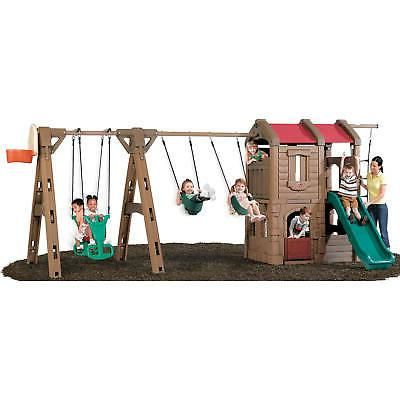 naturally playful adventure lodge play center swing
