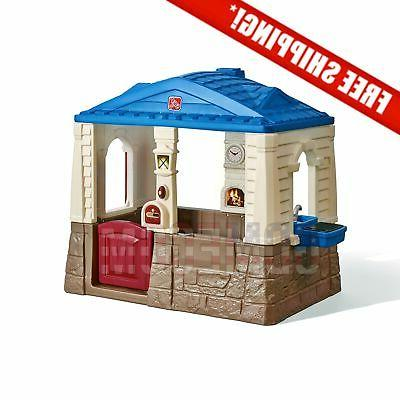 neat tidy cottage playhouse outdoor kids