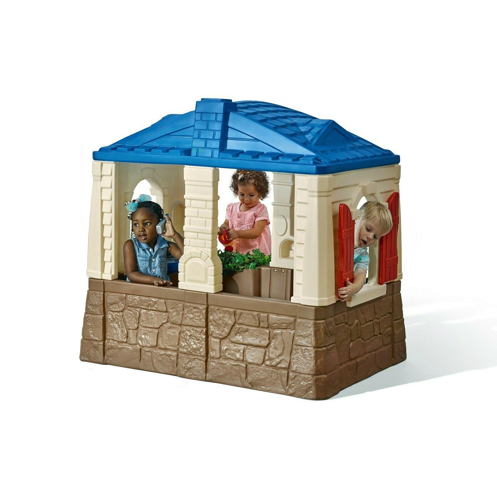 Outdoor Cottage Playhouse Backyard Play House Multicolour