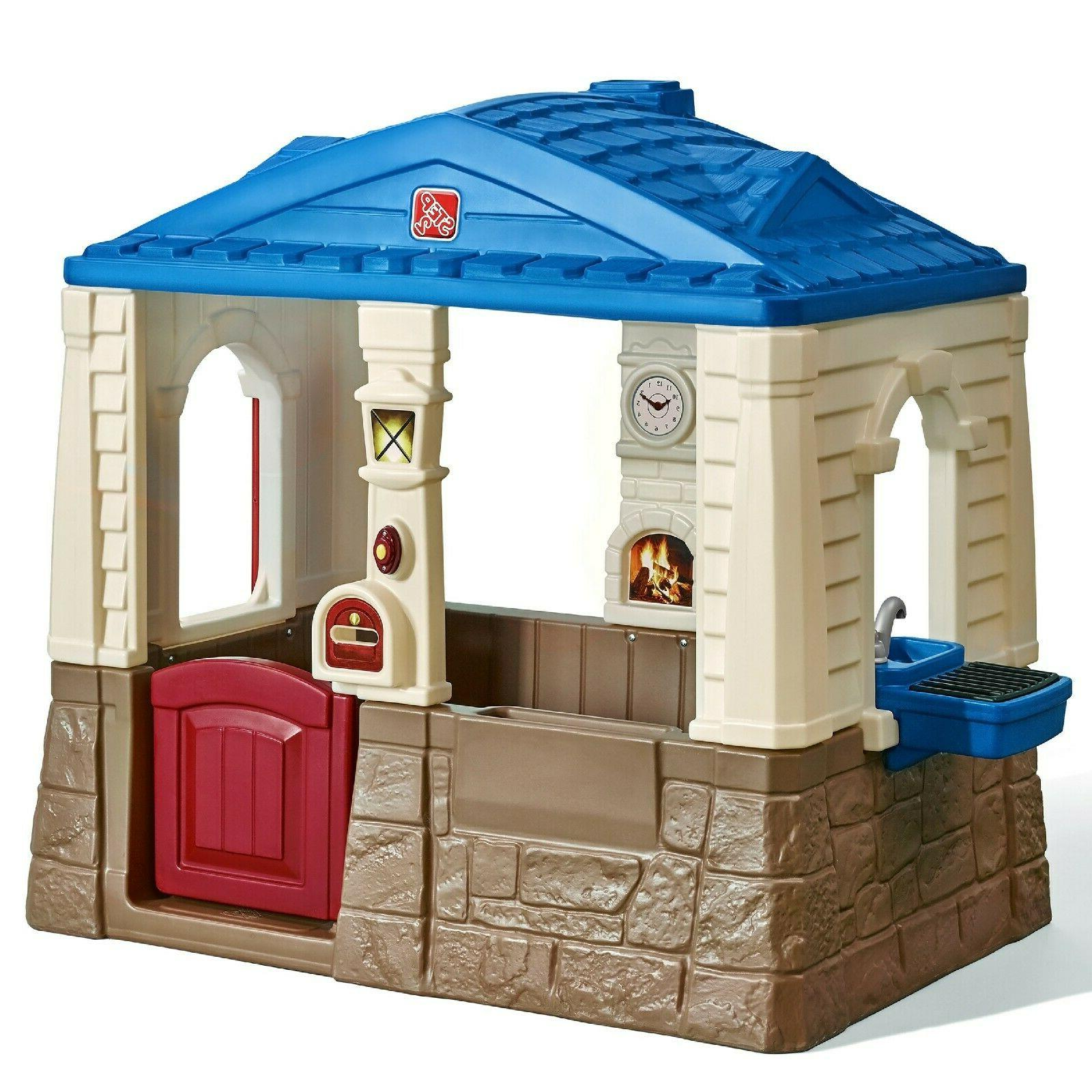 outdoor cottage playhouse castle backyard playground play
