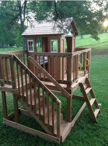 Outdoor Kids w/ Stairs Backyard Cottage Play XL